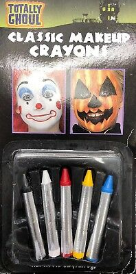 Grease Makeup (Halloween Face Grease Makeup Sticks Crayons Multicolor Pack Theatrical)