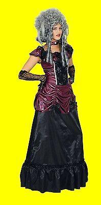 2tlg Damen Kostüm SAFFRON Kleid Barock Vampir mittelalter Halloween Larp NEU - Weibliche Vampir Kostüm