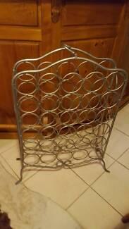 Beautifal steel wine rack SILVER 30 bottle