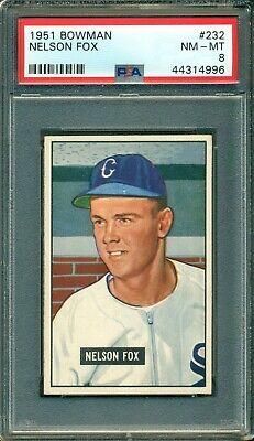 Nelson Fox 1951 Bowman Rookie #232 ** PSA 8 ** HOF - Great Eye Appeal / (Nelson Eye)