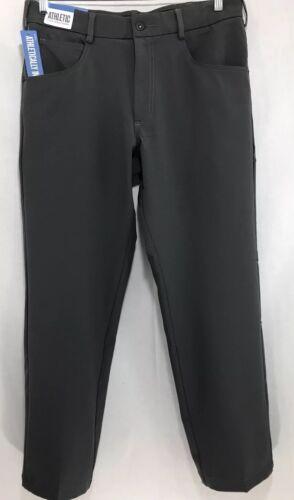 Mens 34x30 Lee 5 Pocket Charcoal Straight Fit Athletic Flex