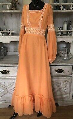 Vintage 60's - 70's Prairie Dress, Hippie, Flower Child, Long Flowy Sz XXS-XS* ()
