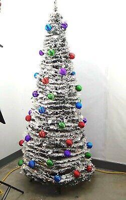 Barbara King 6' Flocked Pre-Lit Pop-Up Tree Multi - A