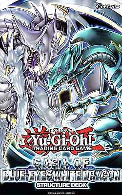 YUGIOH, STRUCTURE DECK SAGA OF BLUE EYES WHITE DRAGON;