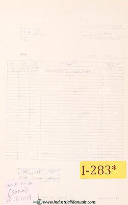 Ikegai Tcr25 Tur25 Fanuc Ot-a Pmc-m Lathe Ladder Diagrams Manual