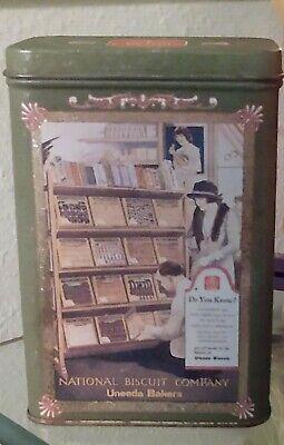 Rare Vintage 1997 Uneeda Bakers Biscuit Tin National Biscuit Company Nabisco