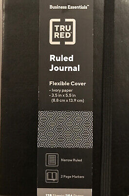 Tru Red Small Flexible Cover Ruled Journal Blk Tr54780