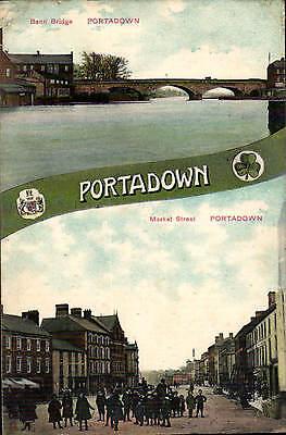 Portadown, County Armagh. Bann Bridge / Market Street by Dickson, Belfast.