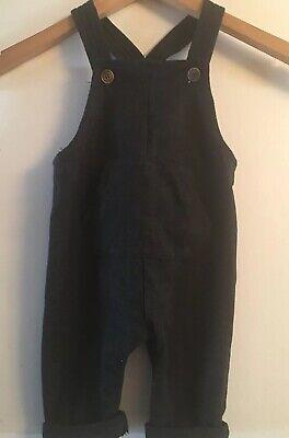 NWT ZARA BABY BOY Charcoal Gray Kangaroo Pocket Overalls Size 3-6 mo. TOO CUTE!, usado comprar usado  Enviando para Brazil