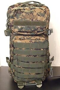 Military US Marine Corps Woodland Digital 3Day Tactical Assault Backpack SWAT Md