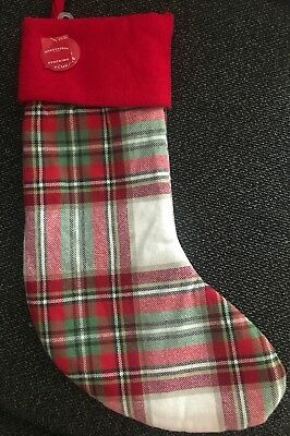 Plaid Christmas Stocking (20