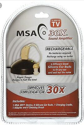 Personal Sound Amplifier   Rechargeable Msa 30X Clamshell Hearing Aid
