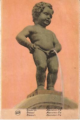 Zeer mooie oude Postkaart BRUSSEL, MANNEKEN-PIS (PK502)