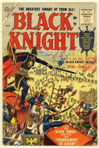 Black Knight #2 1955 Very Good Minus 3.5 Joe Maneely Cover Adventure Atlas Comic