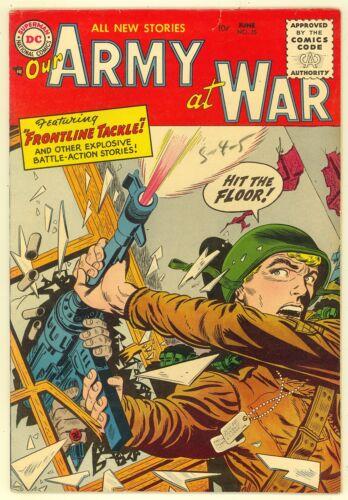 Our Army At War #35 1955 FN+ 6.5  River City Pedigree  War  DC Comics