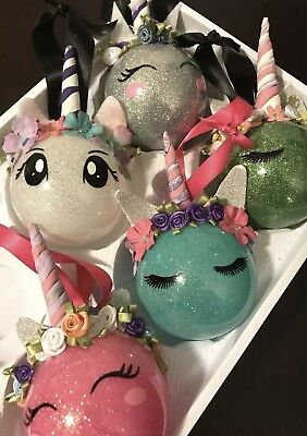 Unicorn Ornament Lot Of 6 Handmade Gift Christmas Tree Decor Wholesale Lot - Wholesale Christmas Decor