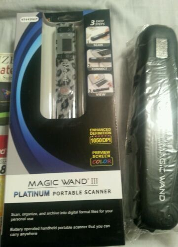 New In Box Vupoint Magic Wand III Portable Scanner With Case And MicroSD - $99.99