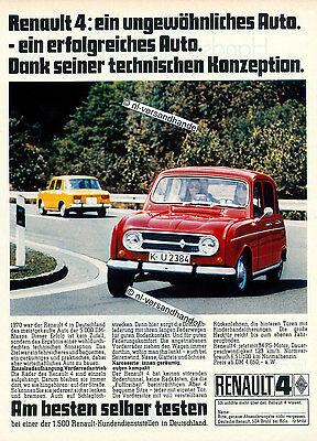 Renault-R4-1971-Reklame-Werbung-genuine Advertising -nl-Versandhandel
