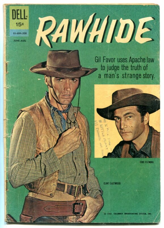 Rawhide Comic 1962- Clint Eastwood Dell Western G/VG