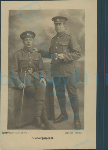 WW1 South wales borderers & Welch regiment Studio photo Kinmel camp