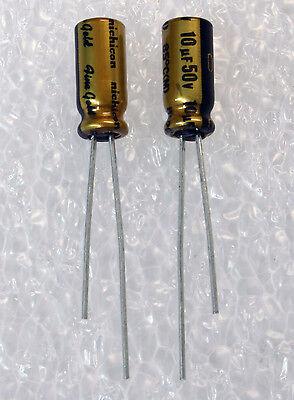 10x Nichicon Muse Fg 10uf 50v Fine Gold Audio-grade Capacitor Usa Seller