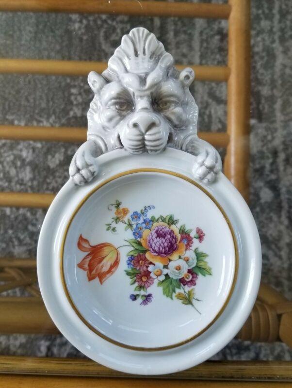 Vintage Lion Souvenir Ashtray Rome Italy