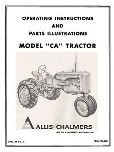 Allis-Chalmers-CA-Operators-and-Parts-Manual-TM-46D