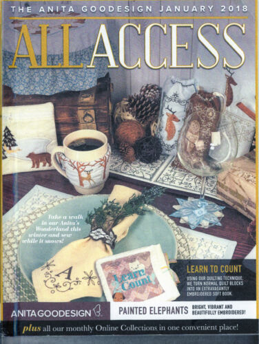 All Access VIP JANUARY 2018 Anita Goodesign Machine Embroidery Designs CD