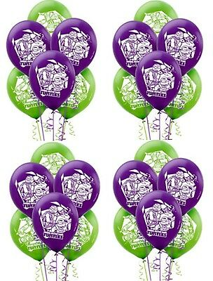 Teenage Mutant Ninja Turtles (24CT) Party Latex Balloons New & Sealed Supplies~
