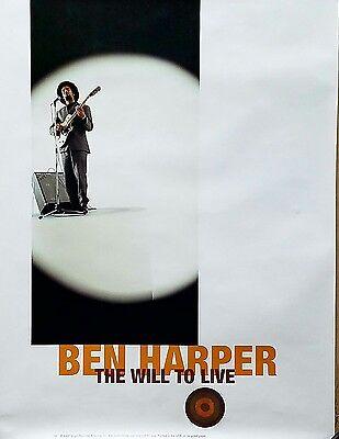 BEN HARPER 1997 WILL TO LIVE RARE PROMO POSTER
