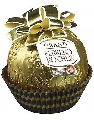 MEGA Grand FERRERO ROCHER Milk Chocolate & Hazelnut Ball Christmas Special Ferrero Chocolate Milk