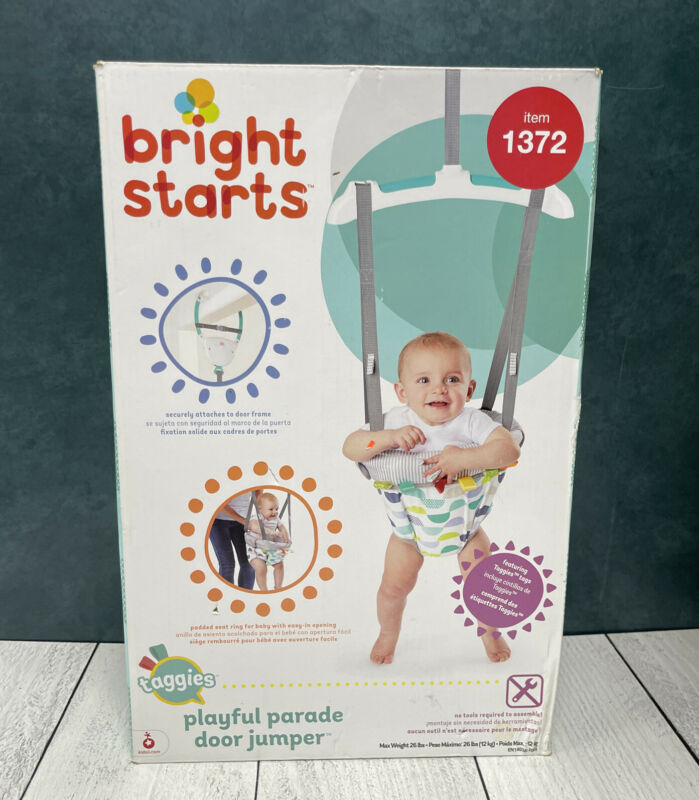 Bright Starts Door Jumper Playful Parade Design with Taggies Open Box
