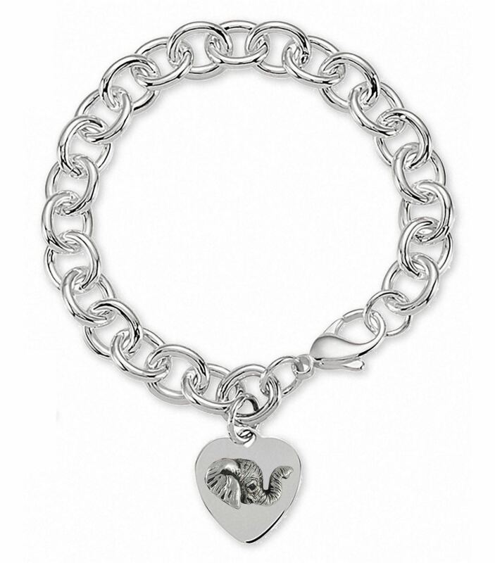 Elephant Jewelry Sterling Silver Elephant Bracelet Handmade Wildlife Jewelry EL5
