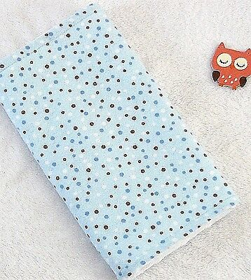 Handcrafted Flannel Blue Dot  Print & White Minky Bubble Baby Burp Cloth
