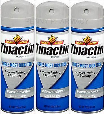 (Tinactin Antifungal Spray Powder Jock Itch - 4.6 oz ( 3 pack ) BLUE)
