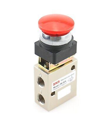 Sns Jm-06a 13mm Thread 32 Way Red Flat Push Button Pneumatic Mechanical Valve
