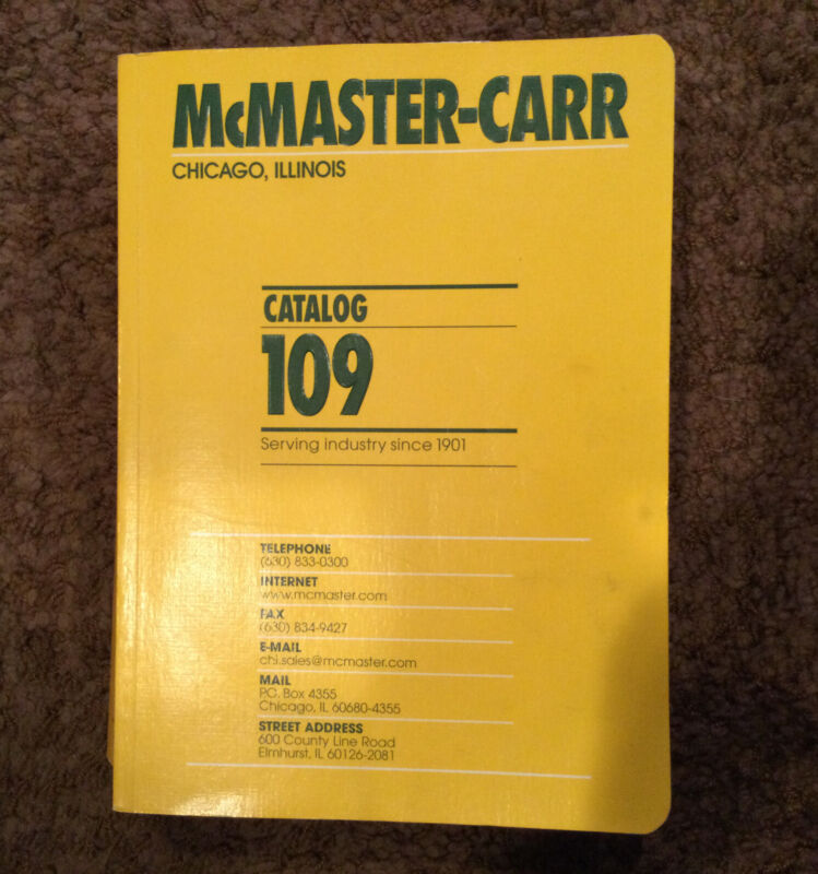 McMaster-Carr Supply Company Catalog Number 109 Los Angeles, CA 2003