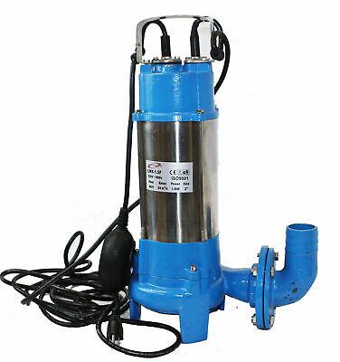 2hp Submersible Trash Sewage Ejector Drain Sump Water Pump Plumbing 136gpm 220v