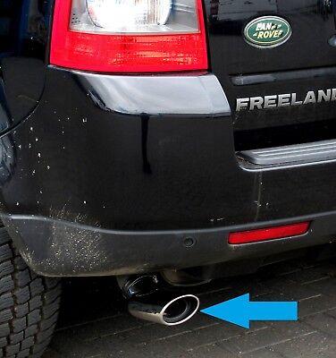 exhaust chrome tailpipe trim stainless Land Rover Freelander 2 DIESEL tip TD4