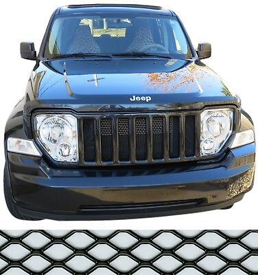 CCG MESH GRILL INSERT KIT FOR 08-12 JEEP LIBERTY GRILLE HEXAGON XXL BLACK for sale  Wyoming