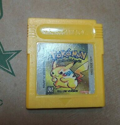 Pokemon Yellow Version GBC Gameboy Color  Reproduction Repro USA Ship