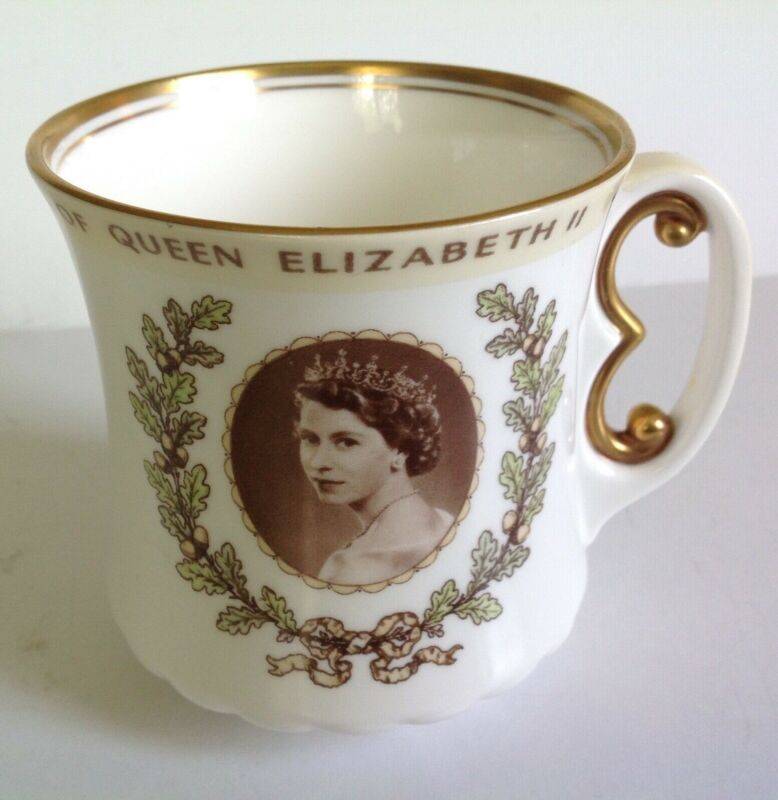 Royal Doulton Queen Elizabeth II Coronation 1953 Commemerative Royalty Mug Cup