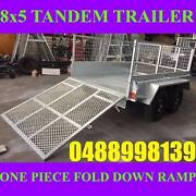 8x5 tandem trailer galvanised with cage and ramp heavy duty new Clayton Monash Area Preview