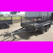 9x5 TANDEM TRAILER W/ CAGE 2000KG 1 PCE FOLD FULL CHECKER PLATE South Windsor Hawkesbury Area Preview