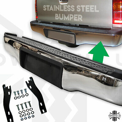 Rear Step Bumper in Stainless Steel for Toyota Hilux MK6 / MK7 / Vigo
