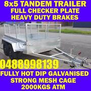 8x5 galvanised tandem trailer with cage brand new Clayton Monash Area Preview