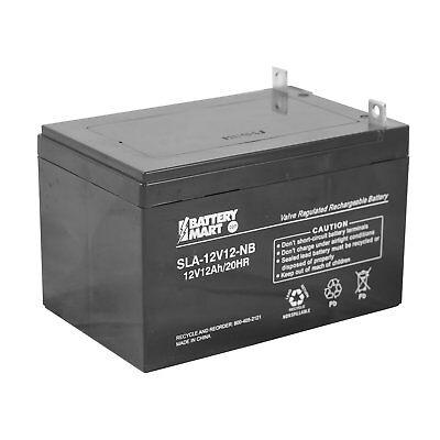 12 Volt, 12 Ah Sealed Lead Acid Battery with Nut & Bolt Terminal [SLA-12V12-NB]