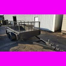 10x5 TANDEM TRAILER WITH CAGE EXTRA HEAVY DUTY FULL CHECKER PLATE South Windsor Hawkesbury Area Preview
