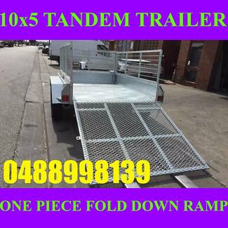 10x5 tandem trailer galvanised with cage and ramp heavy duty new Clayton Monash Area Preview