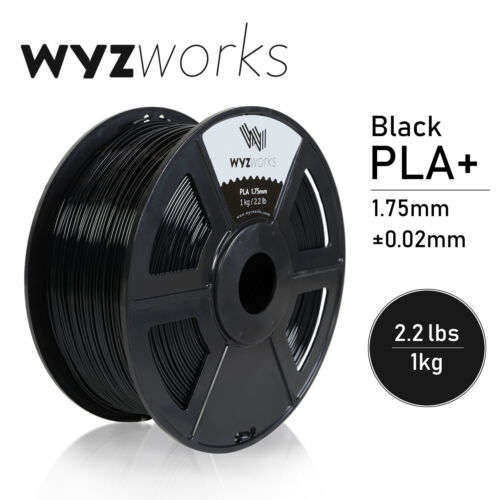 WYZwork 3D Printer Premium PLA Filament 1.75mm 1kg/2.2lb - Black